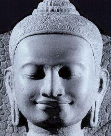 Sculpture tête de Bouddha